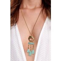 Boho Amazonite Tassel Necklace