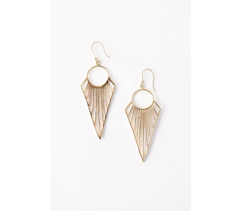 Boho Geometric Arrow Earrings