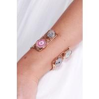 Boho Reversible Multicolored Stone Cuff