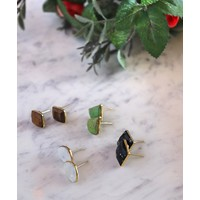 Boho Stone Stud Earrings