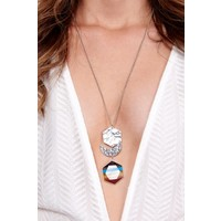 Boho Chakra & Moon Pendant Necklace