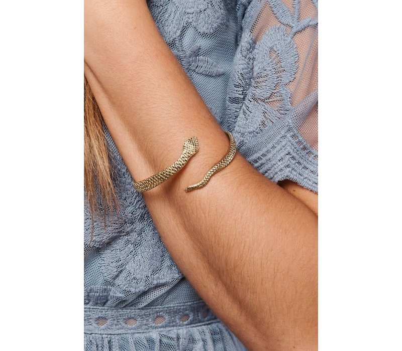Boho Adjustable Gold Snake Bracelet