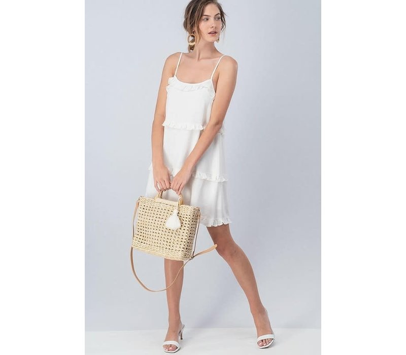 Woven Square Hand Bag