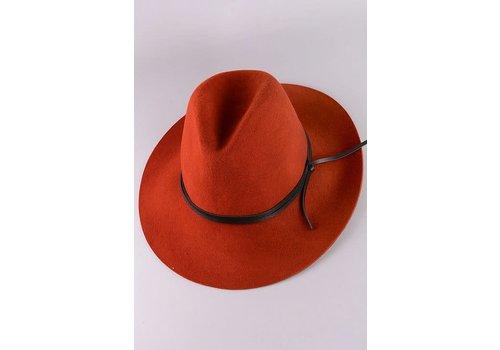 Rust Wool Felt Hat