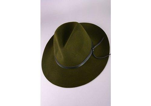 Olive Wool Felt Hat