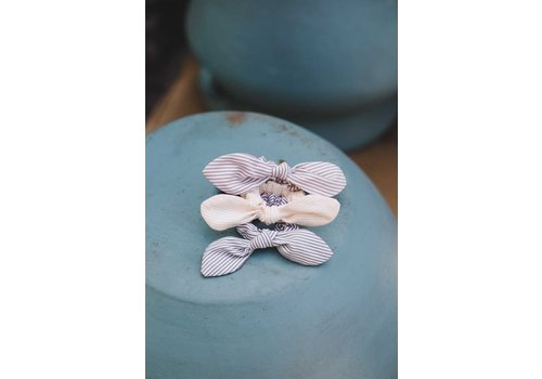 Stripe Bow Scrunchies