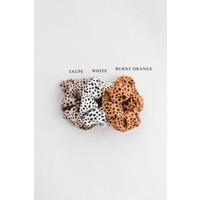 Black & Camel Print Scrunchies