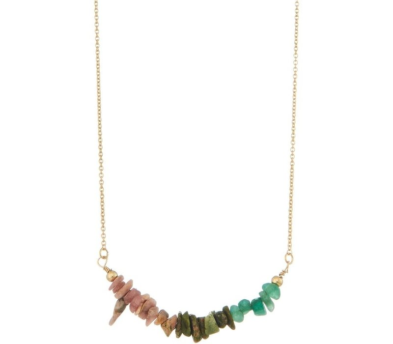 Semi Precious Stone Chip Necklace