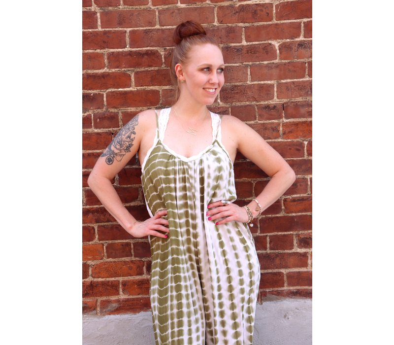 Go With the Flow Tie Dye Jumpsuit