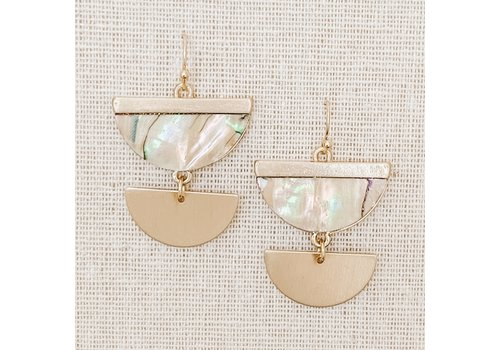 Ivory Abalone Dangle Earrings