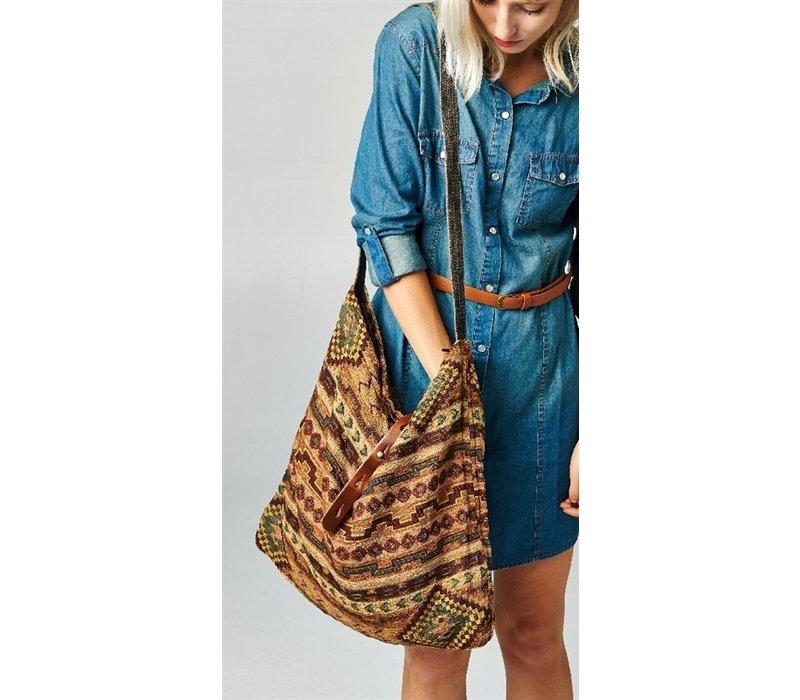 """Santa Fe"" Woven Shoulder Bag"