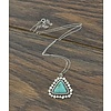 Sterling Silver & Turquoise Stone Necklace