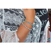 Turquoise & White Turquoise Bangles