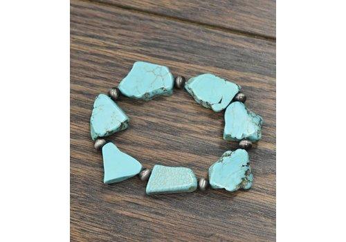 Turquoise Slab Bracelets