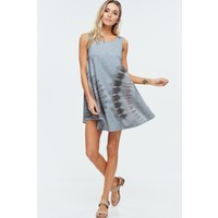 Southwest Tie Dye Swing Dress