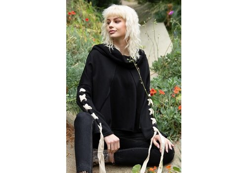 Lace Up Lounge Hoodie