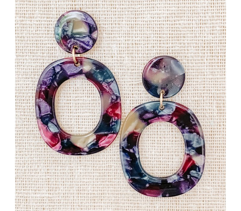 Drop Oval Acrylic Hoops