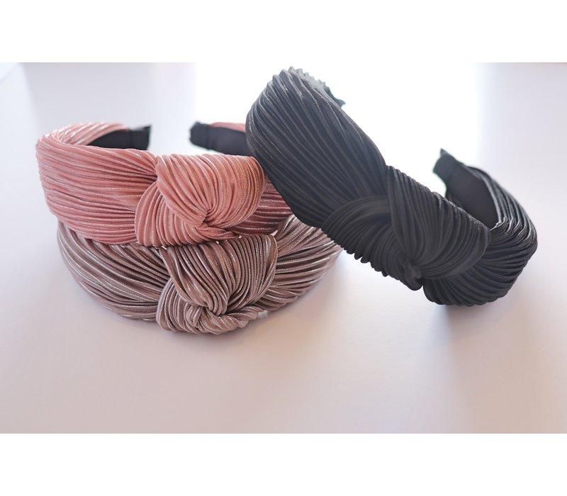 Metallic Pleated Knotted Headbands