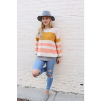 Ivory Stripe Sweater Tunic