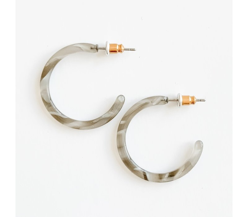 "1"" Acrylic Hoop Earrings (3 Colors)"