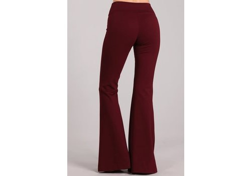 Burgundy Flare Bell Bottoms