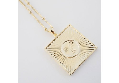 Sun Goddess 18k Gold Plated Necklace