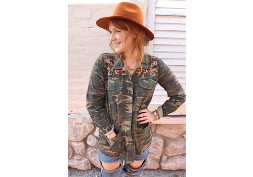 BC Embroidered Camo Shirt Jacket