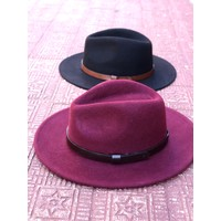Burgundy & Black Fall Felt Hat