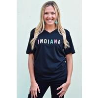 "Black & Neon ""Indiana"" Tee"