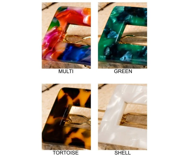 Acrylic Barrettes (4 Colors)