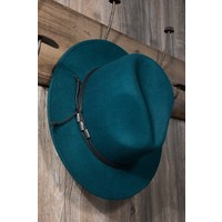 Teal Wool Felt Panama Hat