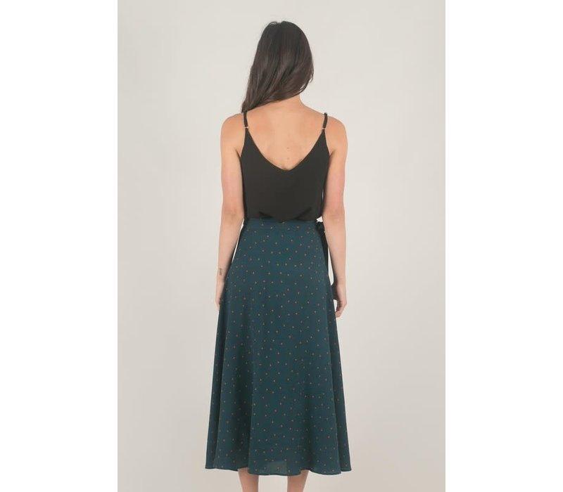 Bohemian Collect: Emerald & Dot Midi Skirt