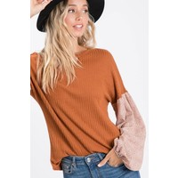Fall Print Sienna Sleeve Top