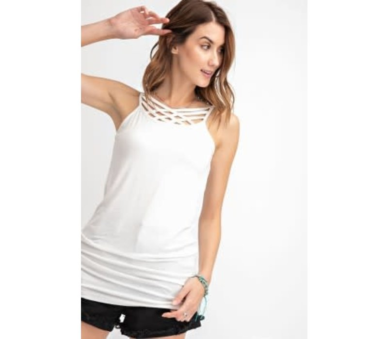 Criss Cross Tunic Tank