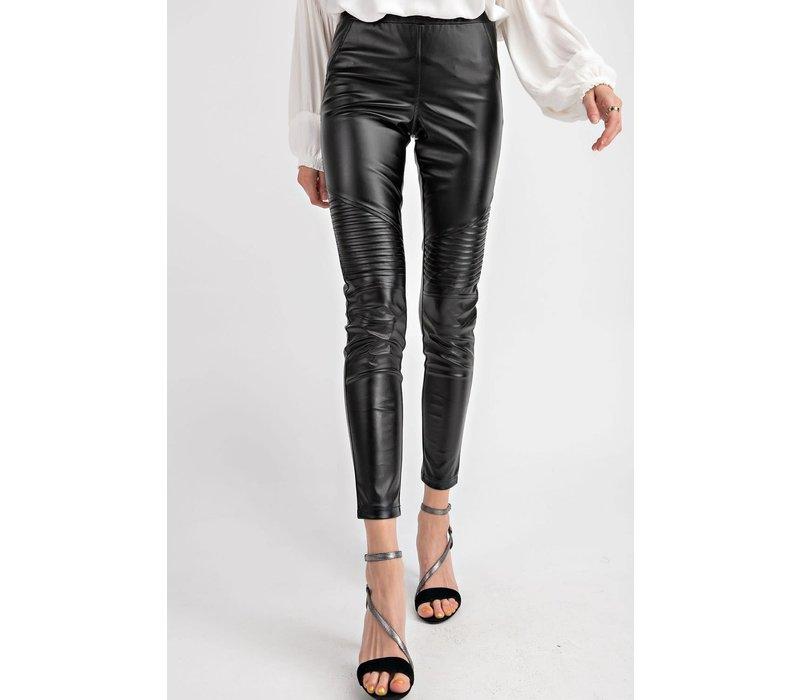 Vegan Leather Moto Leggings