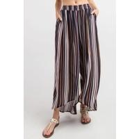 Fall Pinstripe Hi Low Pants