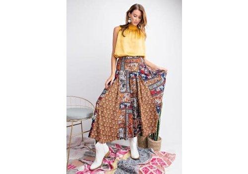 Morocco Wide Leg Pants in Rust