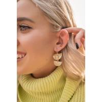 Ivory Abalone Dangle Earrings