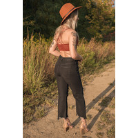 Maggie Black Mid-Rise Jeans by Free People