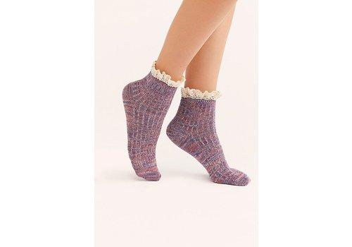 Escapade Space Dye Ruffle Socks by Free People (3 Colors )