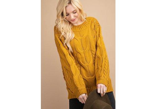 Puff Sleeve Sweater in Mustard