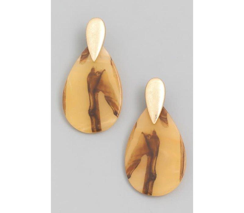 Resin Teadrop Earrings (4 Colors)