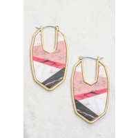 Abstract Marble Stone Earrings (4 Colors)