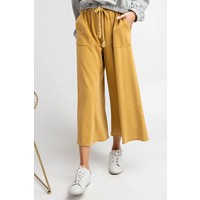 Mustard Cropped Sweat Pants