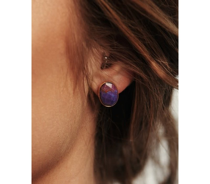 Boho Stone Stud Earrings (5 Colors + Shapes)