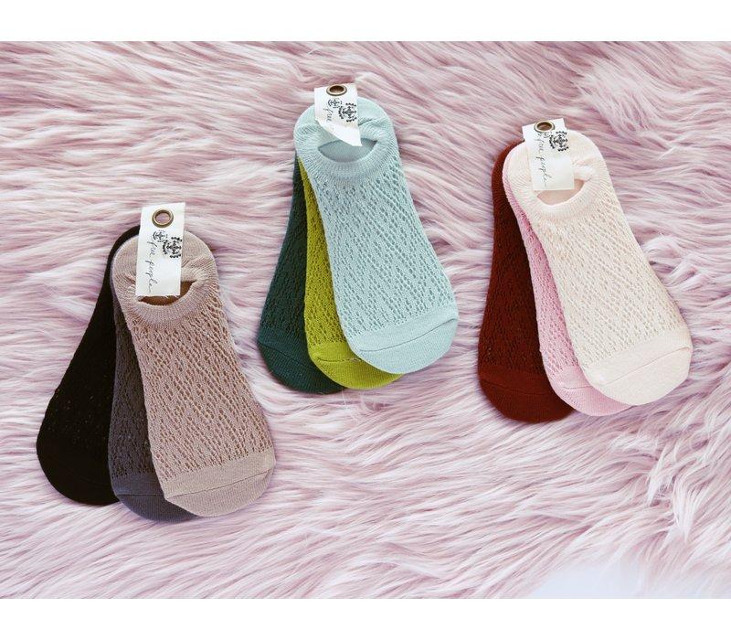 3 Pack Pointelle Socks by Free People