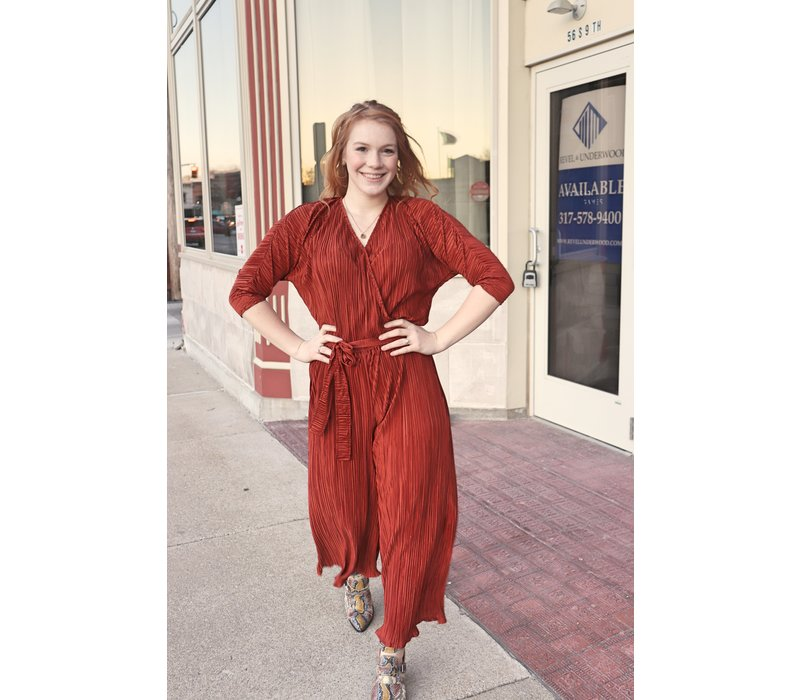 Holiday Sheen Jumpsuits in 2 Colors