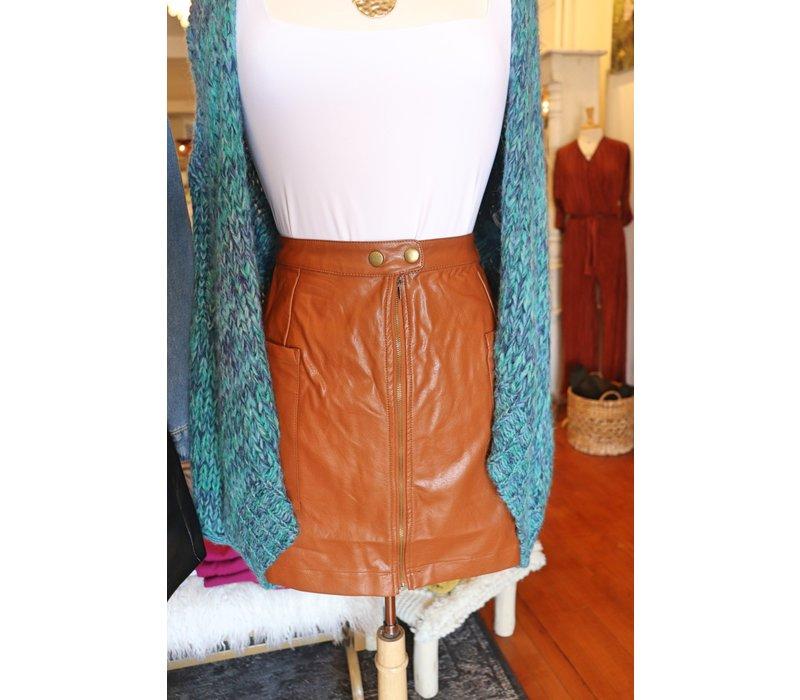Vegan Leather Mini Skirts