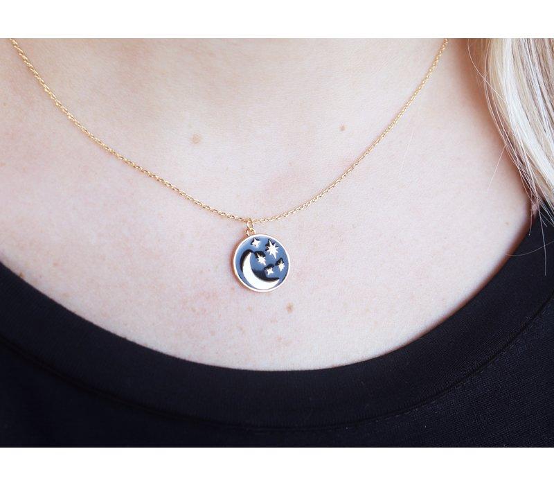 18K Gold Dip Summer Night Necklace
