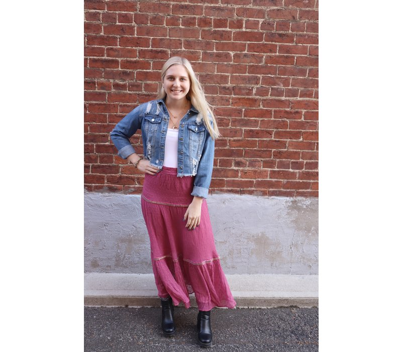 Ella Tiered Maxi Skirt by Free People